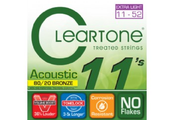 Cleartone 80/20 Bronze Custom Light 11-52 Takım Tel - Akustik Gitar Teli 011-052