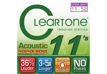 Cleartone Phos-Bronze Custom LIGHT 11-52 Takım Tel - Akustik Gitar Teli 011-052
