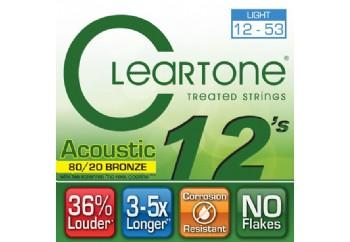 Cleartone 80/20 Bronze Light 12-53 Takım Tel - Akustik Gitar Teli 012-053