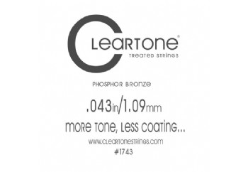 Cleartone Acoustic Phos-Bronze 043 Tek Tel - Akustik Gitar Tek Tel