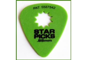 Star Picks Delrin Pick Green - 0,88 mm - 1 Adet