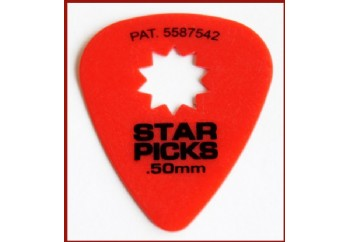 Star Picks Delrin Pick Red - 0,50 mm - 1 Adet