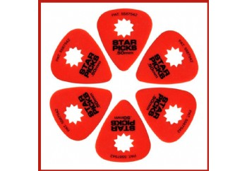 Star Picks Delrin Pack Red - 0.50 mm - 6 Adet
