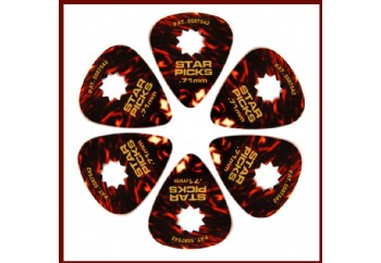 Star Picks Tortoise pack Medium - 0,71 mm - 6 Adet - Pena