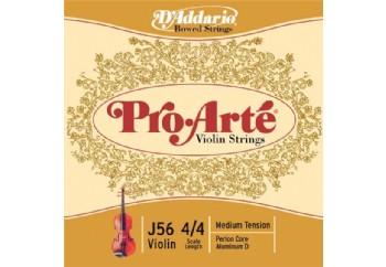 D'Addario J56 4/4M Pro-Arte Nylon violin Strings Takım Tel - Keman Teli