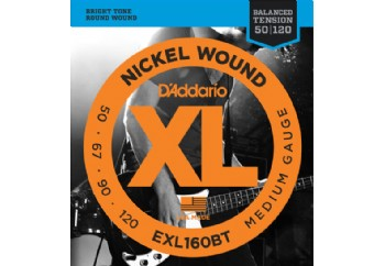 D'Addario EXL160BT Nickel Wound, Balanced Tension Medium, 50-120 Takım Tel - Bas Gitar Teli 050-120