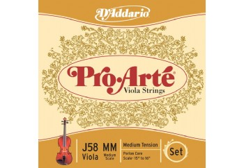 D'Addario Pro-Arte J58 Takım Tel - Viyola Teli