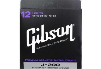 Gibson SAG-J200L Takım Tel - Akustik Gitar Teli 012-053