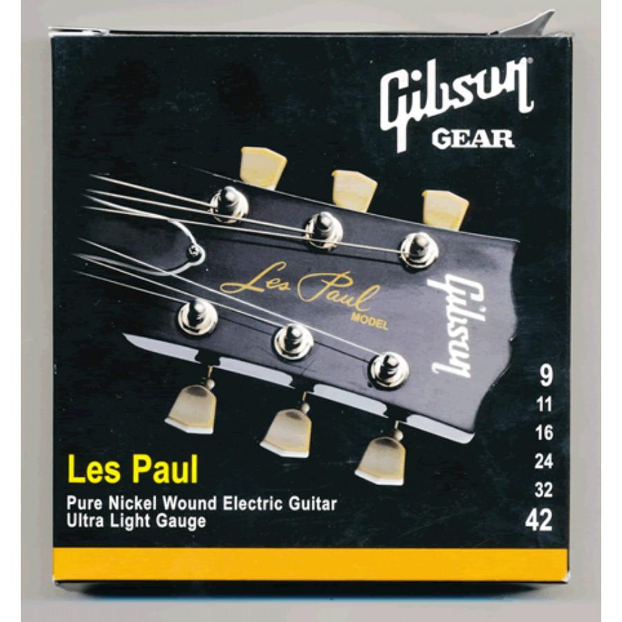 Gibson SEG-LP9 Nickel Plated Extra Light