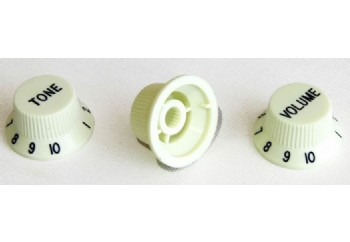 Guitar Tech Strat Style Control Knobs Mint Green - Potans Düğmesi (3 Adet)