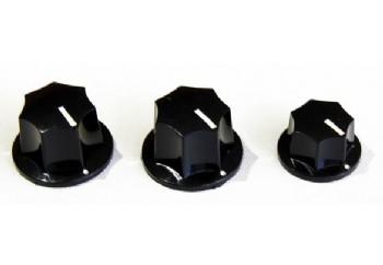 Guitar Tech GT558 JB Control Knobs Black - Potans Düğmesi (3 adet)