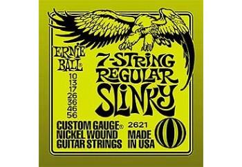 Ernie Ball Regular Slinky Nickel Wound 2621 Takım Tel - Elektro Gitar Teli (7 Telli) 010-056
