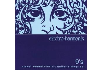electro-harmonix NIC9 Nickel Wound Ultra Light Takım Tel - Elektro Gitar Teli 009-42