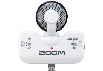 Zoom iQ5 White - iPhone/iPod touch/iPad için Kayıt Mikrofonu