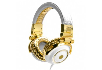 iDance DISCO Series DJ Headphones White/Gold - DJ Kulaklığı