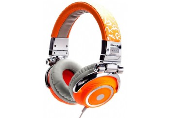 iDance DISCO Series DJ Headphones Orange/Silver