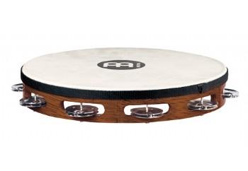 Meinl TAH1AB Headed Wood Tambourine Steel Jingles - 10