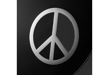 Remo DM-PC06-10 Chrome Peace Sign - Bas Davul Delme Şablonu ve Yapıştırma Sticker