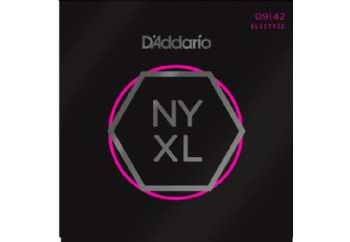 D'Addario NYXL0942 Nickel Wound, Super Light, 09-42 Takım Tel - Elektro Gitar Teli 009-42