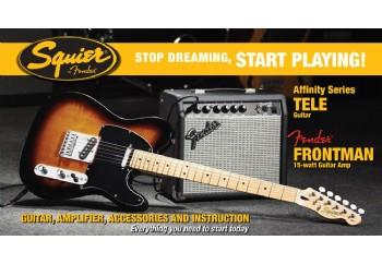 Squier Affinity Series Tele Frontman 15G Amp Brown Sunburst  - Elektro Gitar Seti