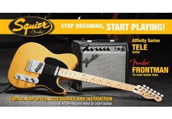 Squier Affinity Series Tele Frontman 15G Amp Butterscotch Blonde - Elektro Gitar Seti