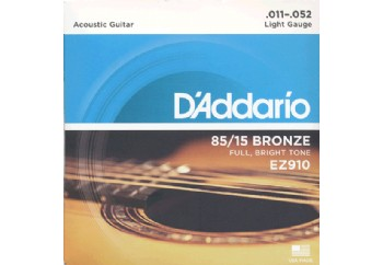D'Addario EZ910 - Light Takım Tel - Akustik gitar teli 011-052