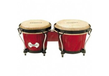 Toca Percussion 2100 Synergy Synthetic Bongos RR - Red - Bongo