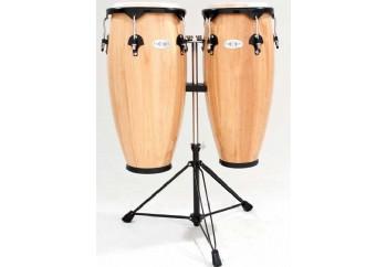 Toca Percussion 2300N Synergy Series Wood Conga Set Natural - Tumba Set