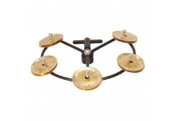 Tycoon TBHHT-B Hi-Hat Tambourine - Brass Jingles - Hi-Hat Tef