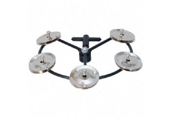 Tycoon TBHHT-S Hi-Hat Tambourine - Steel Jingles - Hi-Hat Tef