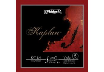 D'Addario K411-LH Kaplan Viola Long Scale, Heavy Tension A (La) - Tek Tel - Viyola Teli