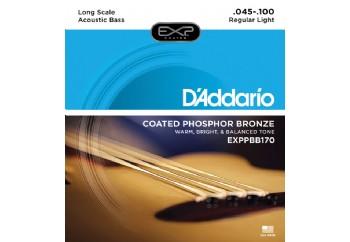 D'Addario EXPPBB170 Coated Phosphor Bronze Acoustic, Long Scale, 45-100 Takım Tel - Akustik Bas Gitar Teli 045-100