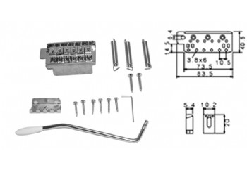 Dr. Parts EBR1 CR - Krom - Elektro Gitar Köprüsü