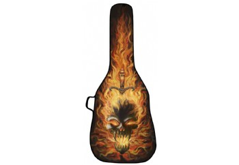 Boldface - Skull on Fire - Elektro Gitar Çantası