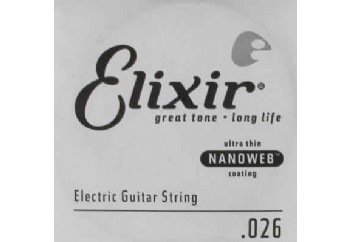 Elixir Wound Single 026 Tek Tel - Elektro Gitar Tek Tel