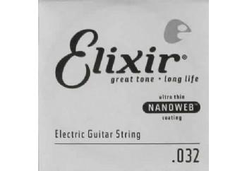 Elixir Wound Single 032 Tek Tel - Elektro Gitar Tek Tel