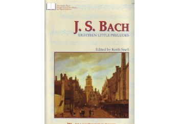 Kjos J.S.Bach Eighteen Little Preludes Kitap - Keith Snell