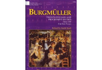 Kjos Burgmüller Twenty-Five Easy & Progressive Studies Op.100 Kitap - Keith Snell