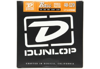 Jim Dunlop DBN40120 Nickel Plated Steel Light Takım Tel - 5 Telli Bas Gitar Teli 040-120