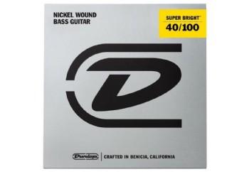 Jim Dunlop DBSBN40100 Super Bright Nickel Wound Takım Tel - Bas Gitar Teli 040-100