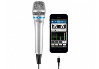 IK Multimedia iRig Mic HD Silver - iPhone, iPod ve iPad için Vokal Mikrofon ve Arayüzü
