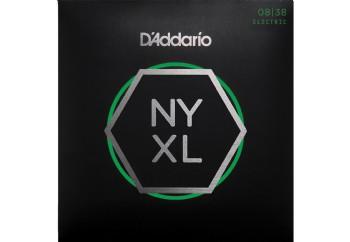 D'Addario NYXL0838 Nickel Wound, Extra Super Light, 08-38 Takım Tel - Elektro Gitar Teli 008-038