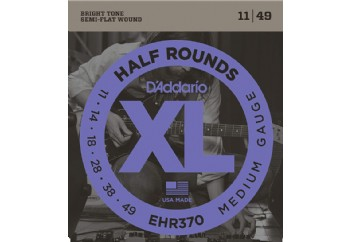 D'Addario EHR370 Half Rounds, Medium Takım Tel - Elektro Gitar Teli 011-049
