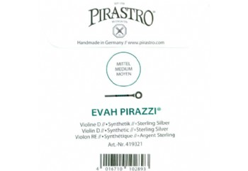 Pirastro Evah Pirazzi Violin Strings D-Re Teli (Medium) - Keman Teli