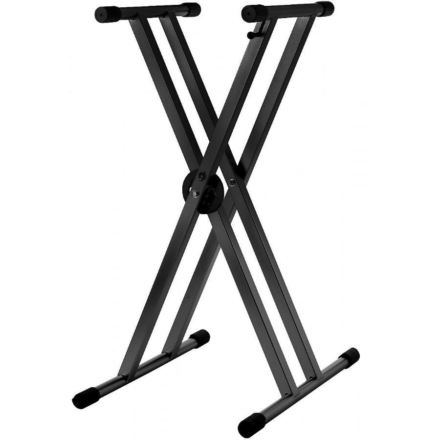 Strukture SK2XA-BK Double Braced Anodized Aluminum Keyboard Stand