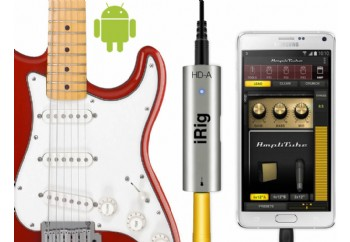 IK Multimedia iRig HD-A - Samsung Galaxy Note 4, Galaxy Note Edge, Windows XP/Vista/7/8 için Gitar Arayüzü