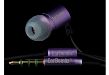 Earbombz by MultiSonus H-Bombz Purple - Mikrofonlu Kulakiçi Kulaklık