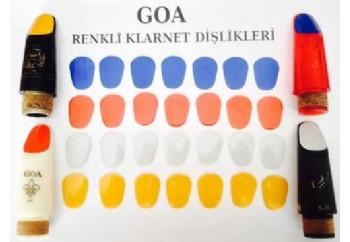 Goa - Renkli Klarnet Bek Dişliği - Bek Dişlik (10 Adet)