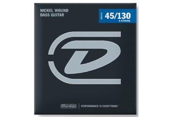 Jim Dunlop DBN45130 Nickel Wound Bass Strings, Medium Takım Tel - 5 Telli Bas Gitar Teli 045-130