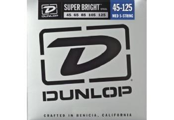 Jim Dunlop DBSBS45125 Super Bright Stainless Steel Takım Tel - 5 Telli Bas Gitar Teli 045-125